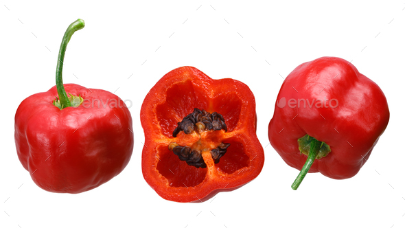 Rocoto manzano C. pubescens, paths - Stock Photo - Images