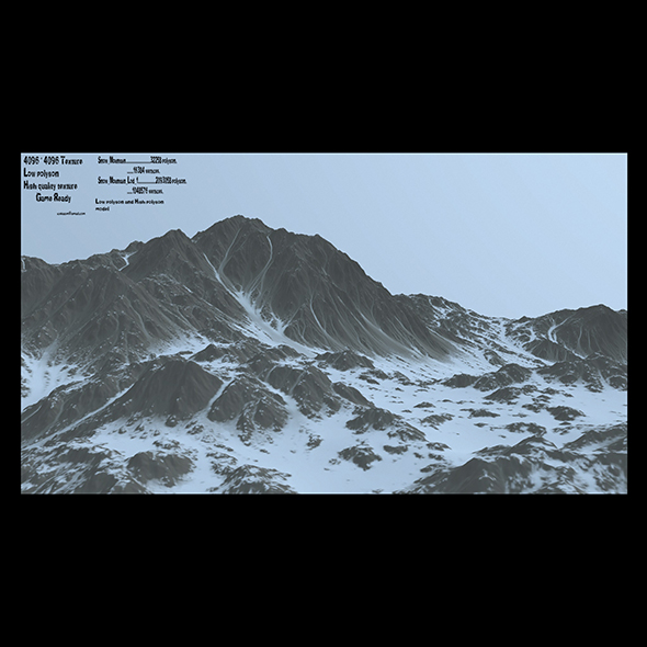 3DOcean snow mountain 20980643