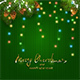 Christmas Lights on Green Knitted Pattern - GraphicRiver Item for Sale