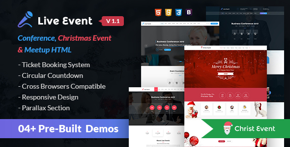 Live Event - Conference, Event & Meetup HTML Template - Events Entertainment