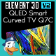 QLED Smart Curved TV Q7C for Element 3D - 3DOcean Item for Sale