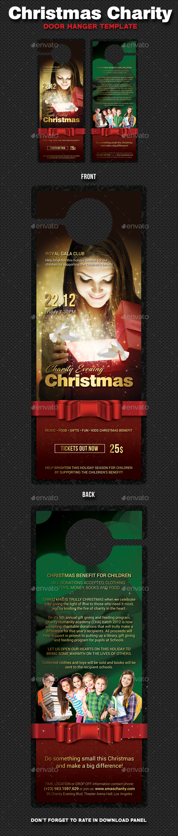 GraphicRiver Christmas Charity Door Hanger 20980956