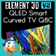 QLED Smart Curved TV Q8C for Element 3D - 3DOcean Item for Sale