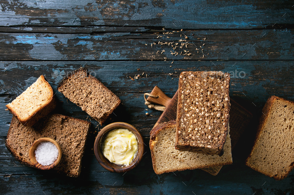 Breakfast with rye bread - Stock Photo - Images