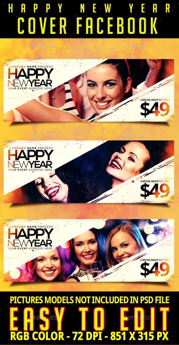 GraphicRiver Happy New Year Cover 20960408