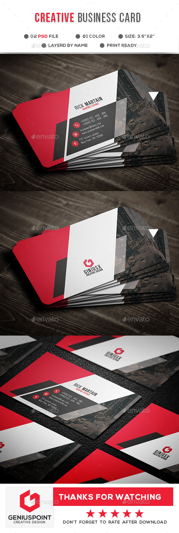 GraphicRiver Creative Business Card 20981117