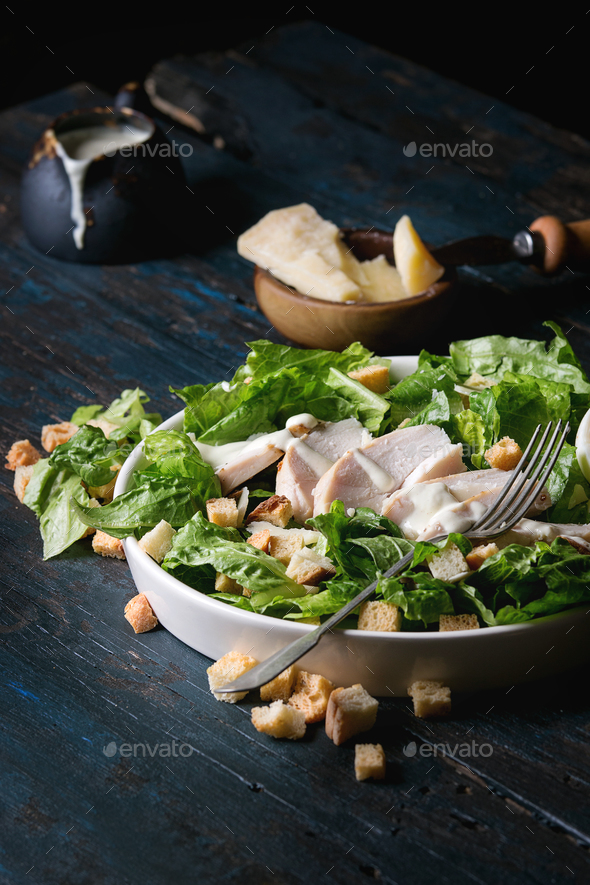 Classic Caesar salad - Stock Photo - Images