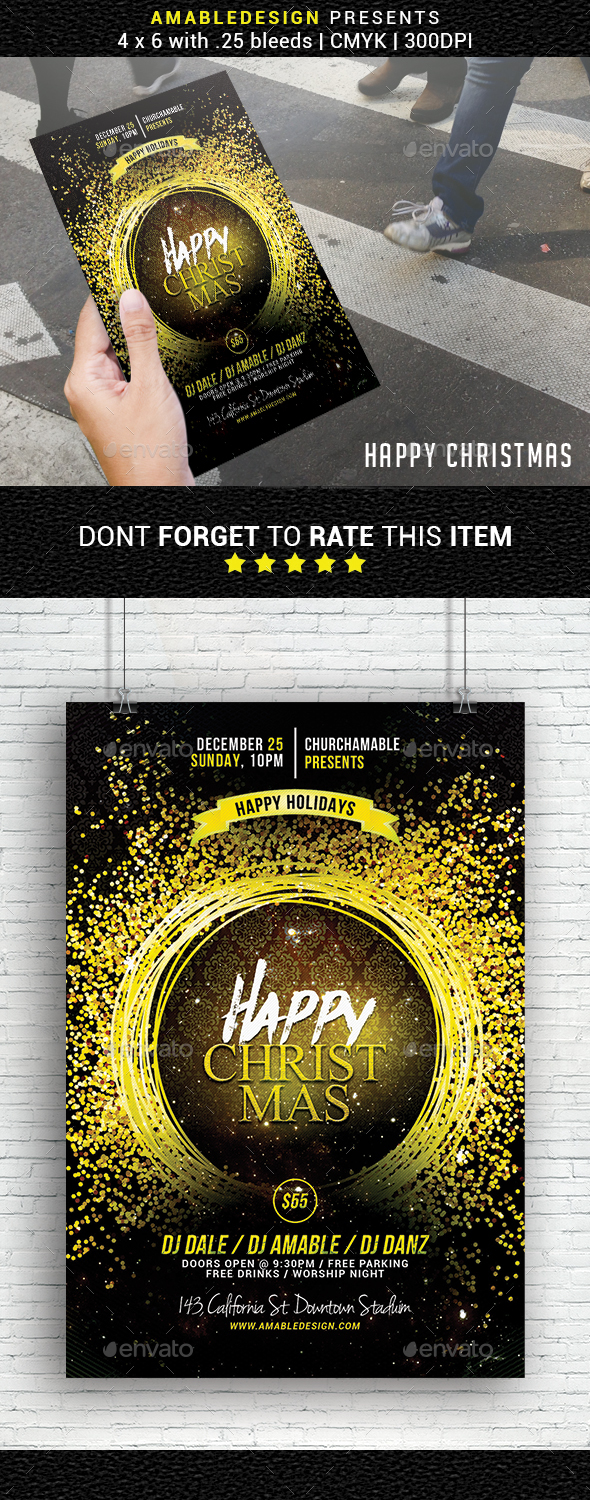 GraphicRiver Happy Christmas Flyer 20981149