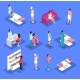 Isometric People and Cosmetology Set - GraphicRiver Item for Sale