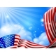 American Flag Sky Background Design - GraphicRiver Item for Sale