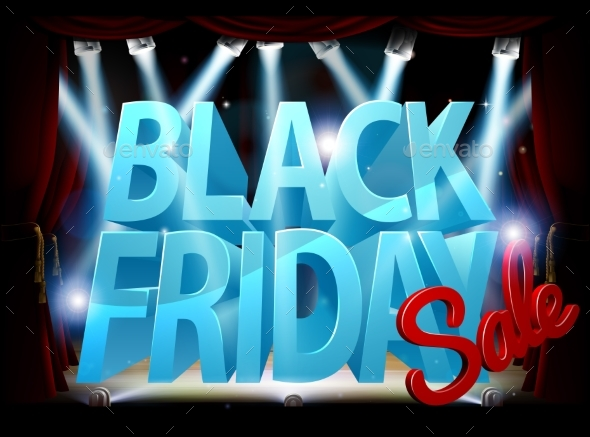 GraphicRiver Black Friday Stage Sale Sign 20981271