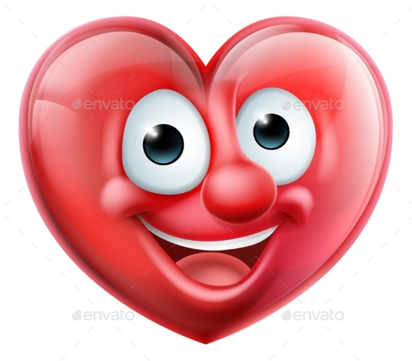 GraphicRiver Heart Man Cartoon Character 20981292