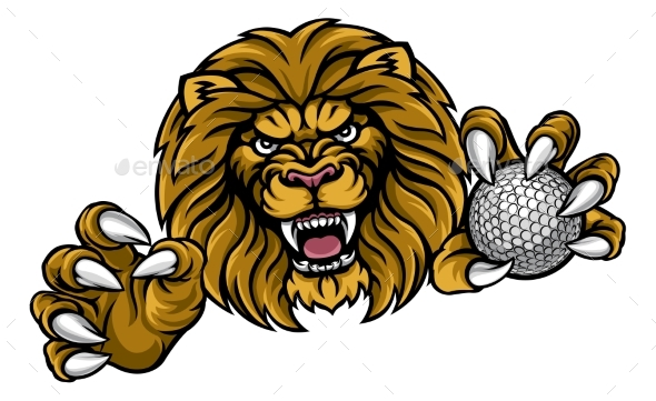 GraphicRiver Lion Golf Ball Sports Mascot 20981295