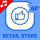 Shop Center Mall Retail Store Icon Set - Line Motion Graphics Icons - VideoHive Item for Sale