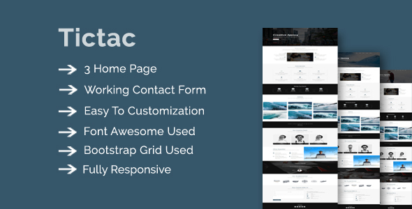 Image of Tictac - Onepage Creative Multipurpose Template