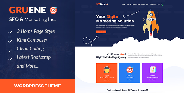 Gruene - Digital Marketing WordPress Theme - Portfolio Creative