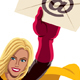 Superheroine Flying E-Mail - GraphicRiver Item for Sale
