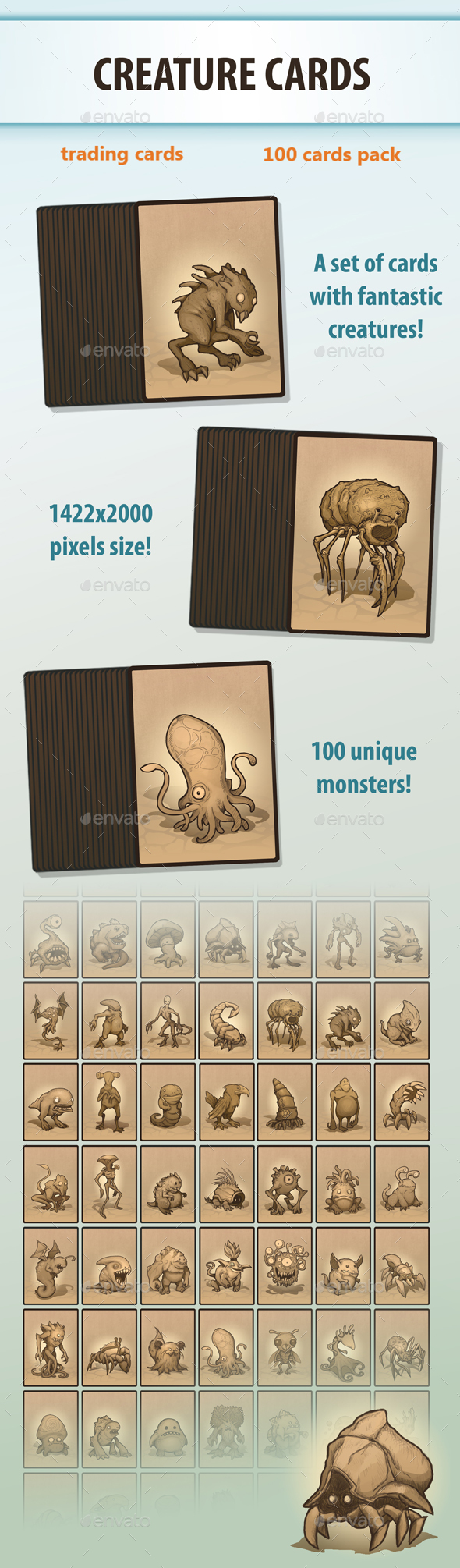 GraphicRiver Creature Cards 20788252