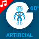 Robot Bot AI Artificial Intelligence Icon Set - Line Motion Graphics - VideoHive Item for Sale