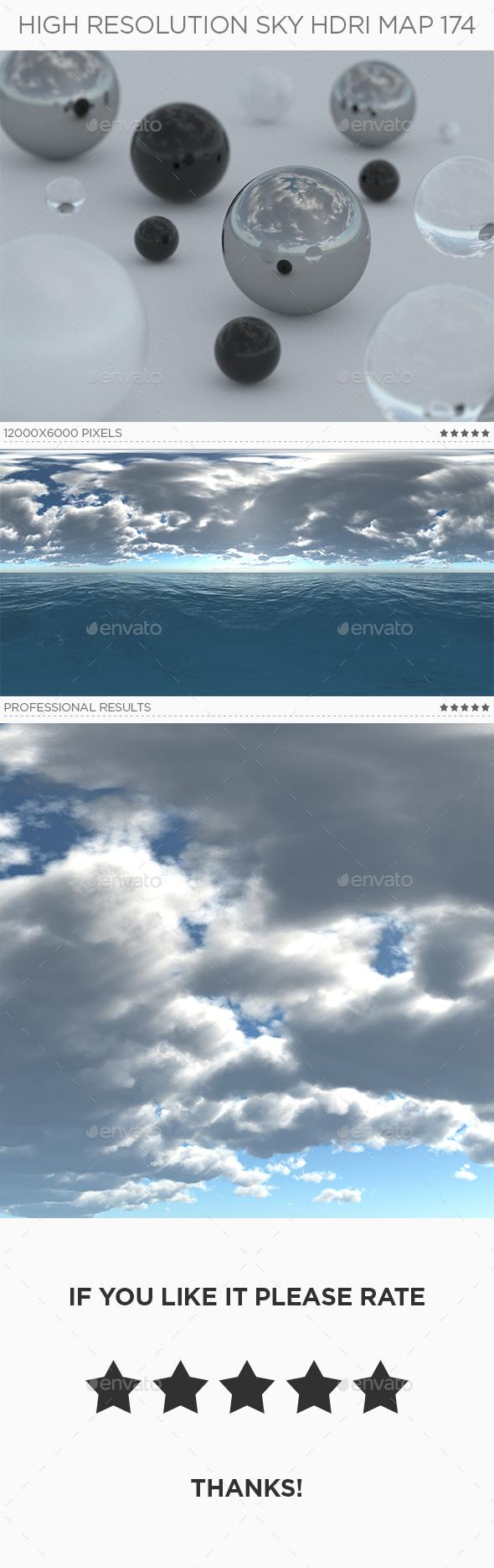 3DOcean High Resolution Sky HDRi Map 174 20981560
