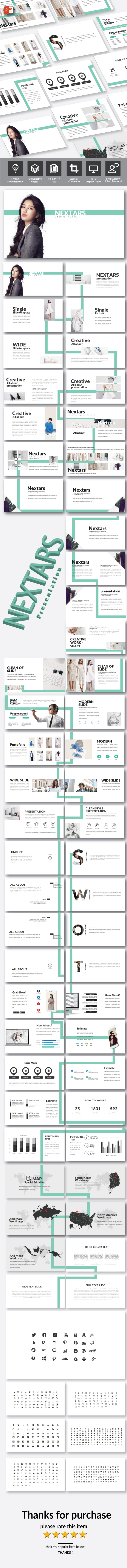 GraphicRiver Nextars Multipurpose PowerPoint Template 20981604