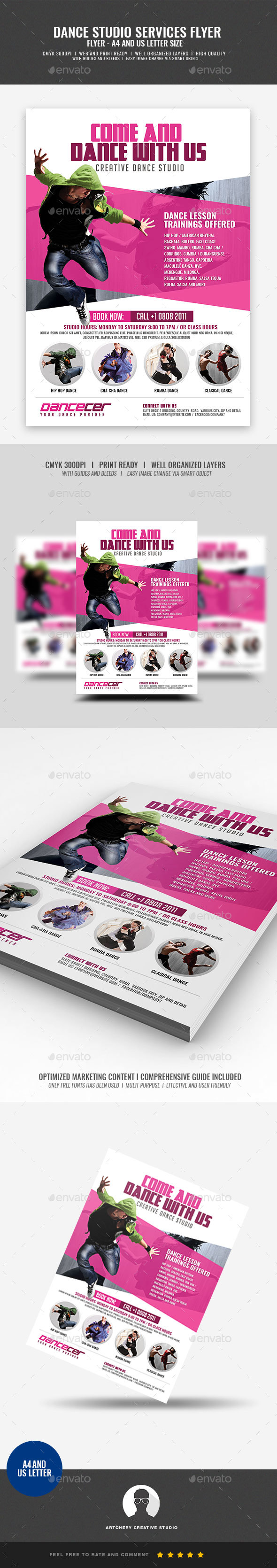 GraphicRiver Dance Studio Promotion 20981607