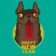 Dog Happy New Year - GraphicRiver Item for Sale