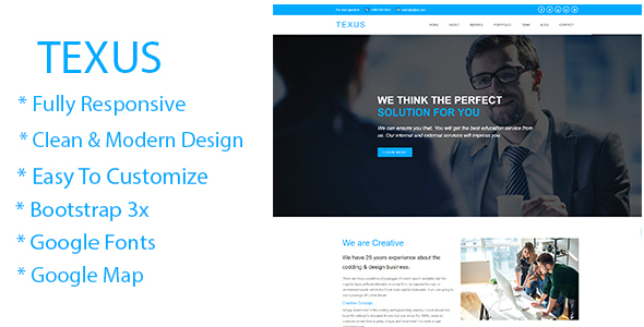 ThemeForest Texus Business and Corporate HTML5 Template 20873790