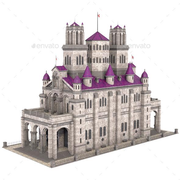 Classic Castle - Architecture 3D Renders