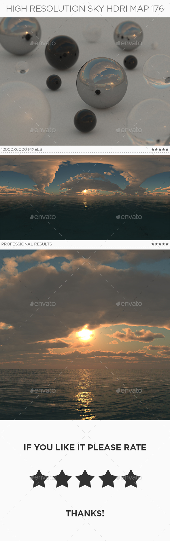 High Resolution Sky HDRi Map 176 - 3DOcean Item for Sale