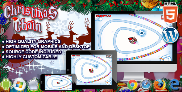 Christmas Chain - HTML5 Game - CodeCanyon Item for Sale