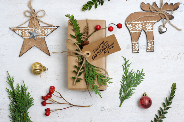 christmas items arrangement - Stock Photo - Images