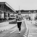 Woman jogging on riverside