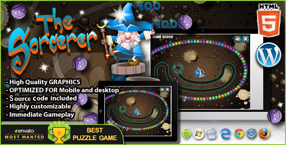 The Sorcerer  - HTML5 Puzzle Game nulled free download
