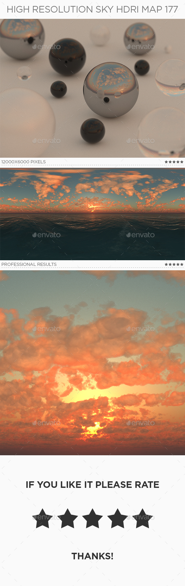 High Resolution Sky HDRi Map 177 - 3DOcean Item for Sale