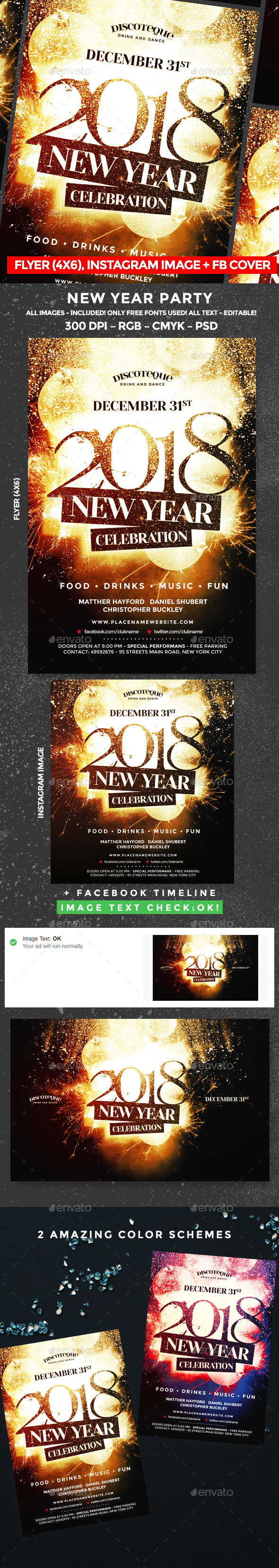 GraphicRiver New Year Flyer 20982009