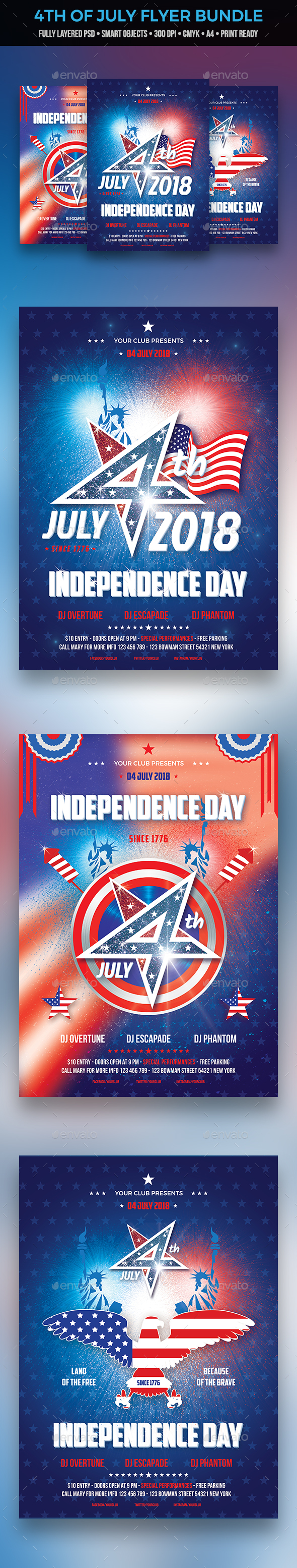 GraphicRiver 4th of July Flyer Bundle 20982142