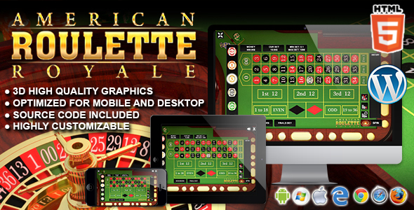 Download American Roulette Royale - HTML5 Casino Game