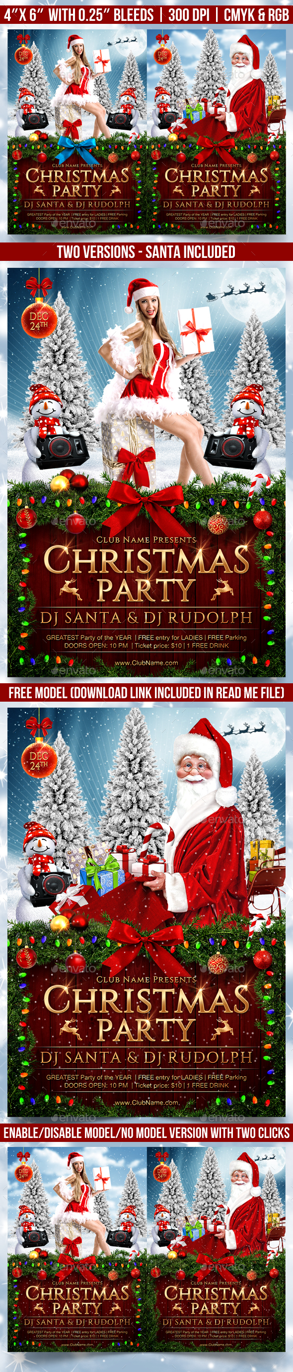 GraphicRiver Christmas Party Flyer Template 20982210