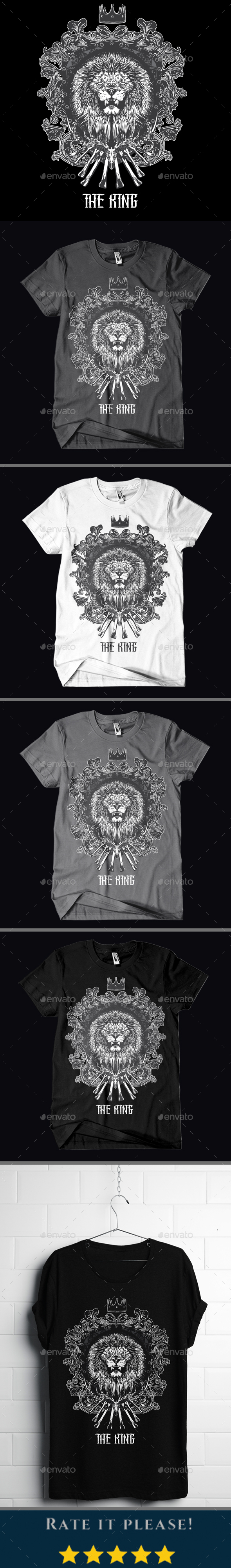 GraphicRiver The King T-shirt Design 20982218