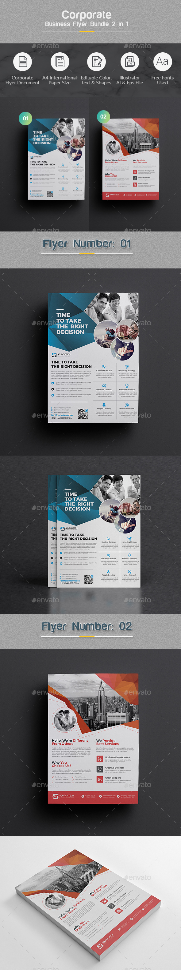 GraphicRiver Flyer Bundle 2 in 1 20982230