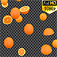 Falling Oranges - VideoHive Item for Sale