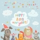 Happy 2018 New Year Card - GraphicRiver Item for Sale