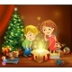Christmas Miracle - Kids Opening a Magic Gift - GraphicRiver Item for Sale