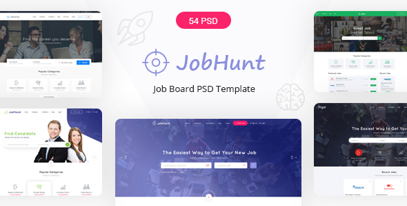 Jobhunt – The Most Popular Job Board PSD Template