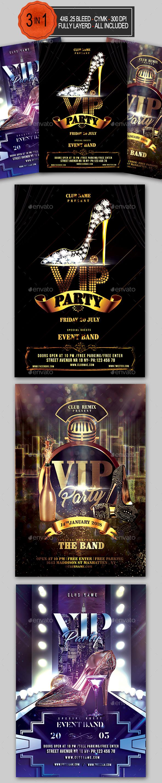 GraphicRiver VIP Party Flyer Bundle 20982630
