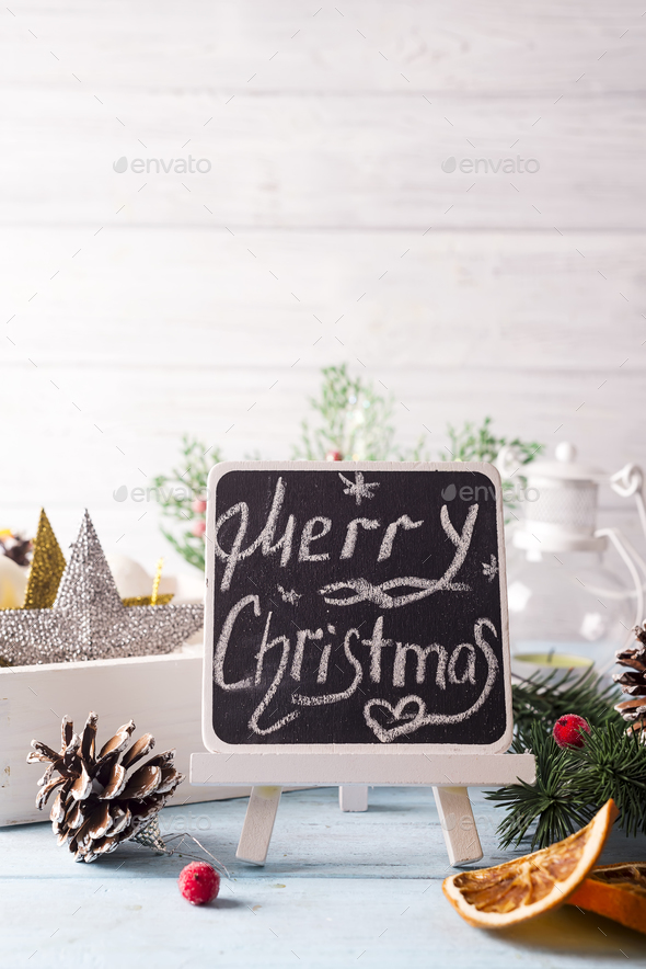 Merry christmas holiday decorations. - Stock Photo - Images