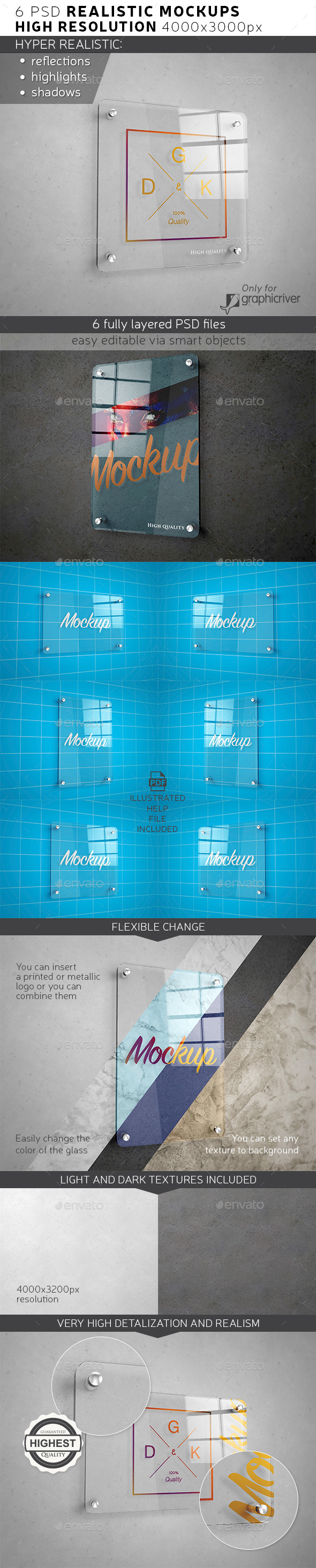 GraphicRiver Glass Signage Poster Mockup 20982708