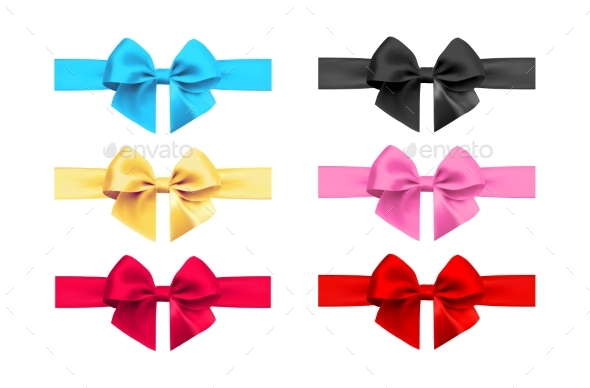 GraphicRiver Realistic Bow and Ribbon Set 20982765
