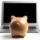 Piggy Bank With Laptop - PhotoDune Item for Sale